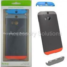 HTC One (M8) Double Dip Case Cover Gray / Orange / Blue, 99H11436-00