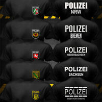 Germany Cities State Police Polizei GSG SEK Bundespolizei Landespolizei T-shirt