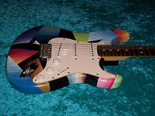 Fantastic Fender Strat Stratocaster USA american hand painted standard