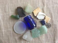 GENUINE SURF TUMBLED SEA BEACH GLASS MIXED BEACH FINDS 12 pcs