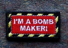 ZOMBIE HUNTER TACTICAL: 'I'M A BOMB MAKER!' MORALE PATCH 2X1 W/VELCRO®