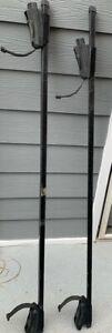 "Thule Roof Rack Square Bars (58"") + Crossroads 4x Foot Pack (fits raised rails)"