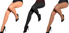 Hosiery Women Classic Lycra Tights Plain No pattern Semi-Opaque Aurellie 3 packs