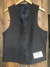 Charcoal Gray Five Button Men's Tweed Vest Size 40R