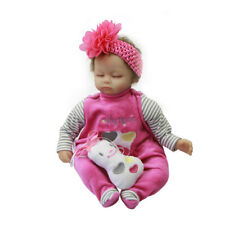 Lovely Rompers Flower Headband Clothes for 16''-17'' Reborn Baby Girl Doll