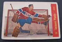 1957-58 PARKHURST JACQUES PLANTE #15 / MONTREAL CANADIENS