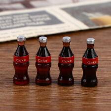 4 Pcs Dollhouse Kitchen Decoration Accessories, 1/12 Dolls House Coke Dr`