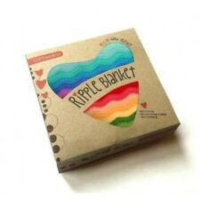 O.B Designs Rainbow Ripple Baby Blanket - Baby Crochet Blanket Newborn Gift OB