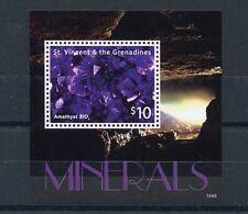 St Vincent & The Grenadines 2015 MNH Minerals 1v S/S Amethyst