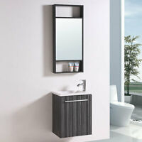 "20"" Bathroom Vanity Set with Mirror Single Sink Modern Wall Mount Cabinet table"