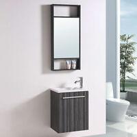 "20"" Bathroom Vanity Set with Mirror Single Sink Modern Wall Mount Cabinet table"