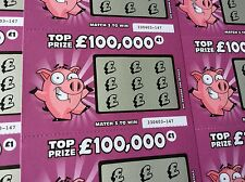 9 Fake Joke Lottery Scratch Cards Realistic Tickets Card Stag Hen Party Do Fun