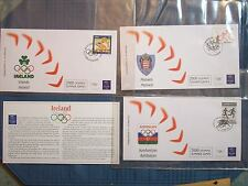 STAMP 2000 OLYMPIC SUMMER GAMES 3 FIRST DAY COVER ENVELOPES IRELAND AZERBAIJAN M