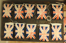 Home Front  Military WWII Era Bunting Flags British Union Jack Vintage (4810)