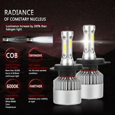 H4 9003 HB2 8000LM COB LED Headlight Hi/Low Beam White Car Bulb Light 6000K