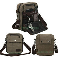Men Canvas Messenger Shoulder Travel Hiking Waist Fanny Pack Multipurpose Bag