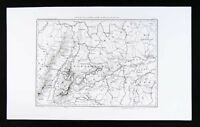 1859 Dufour Map Germany Baden Bavaria Munich Ulm Europe