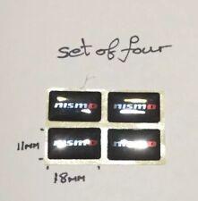 4X Black 3D Nismo Skyline GTR Car Sticker Emblem Badge Decal Juke - HIGH QUALITY