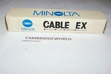 MINOLTA MAXXUM CABLE EX ORIGINAL GENUINE MINOLTA BRAND NEW for MINOLTA FLASHES