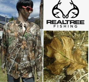 REALTREE EDGE shirt hunting fishing vented long sleeve lightweight quick dry MED