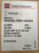 CUTLER HAMMER FD Breaker 1A-1B Auxiliary 70 Amp 3 Pole FD3070LA04