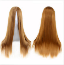 woman Straight Cosplay Anime Carnival party Wig bangs heat resistant 6 Colors