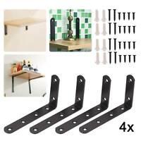 4X Heavy Duty Cast Iron Wall Mounted L Shaped Angle Shelf metal Bracket Supports