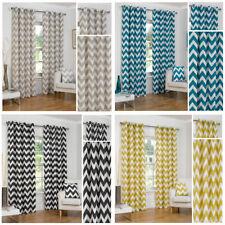 Cotton Striped Curtains & Pelmets