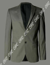 M & S Mens Autograph Cotton With Stretch Tailored Fit Jacket Blazer 44 Long