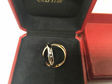 CARTIER Ring Gr.55 Trinity Star 750/000 GOLD mit 5 Brillanten und original Box