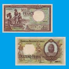Belgian Congo 1000 Francs 10.05.1944.  UNC -Reproductions
