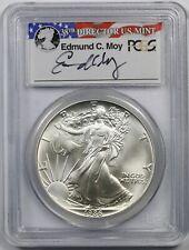 1986 American Silver Eagle $1 MS 69 PCGS Edmund C. Moy Signature