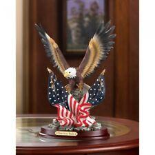 Patriotic Statue American Pride Bald Eagle Sculpture
