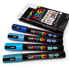 Uni Posca PC-5M Marcador De Arte Pintura Plumas-Cool Tonos-Conjunto de cartera de plástico 4 in (approx. 10.16 cm)