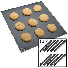 10 x UNIVERSALE rivestito di teflon antiaderente extra large per Cottura Forno Foglio Mat Liner