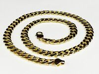 "18k Solid Yellow Gold Miami Cuban Curb Link 25"" 10 mm 195 grams chain/Necklace"