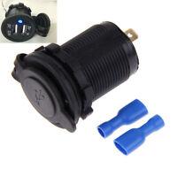 Splitter Cigarette Lighter Socket Car Charger 12-24V Power Adaptor Dual USB Port