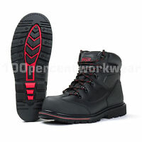 Titan Welted Sole Premium Black Leather Work Safety Boots Steel Toe Cap Midsole