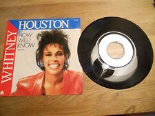 WHITNEY HOUSTON HOW WILL1985 FIRST PRESS SINGLE DIFFERENT COVER PHOTO RARE SEE