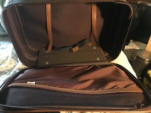 Admiral Vintage Luggage Carry on Bag Brown/Checkered