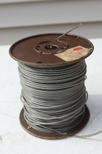 VTG Spool 18 AWG Gauge Stranded Wire Gray 600 Volts MTW TFFN AWM 15 Mil Ins USA