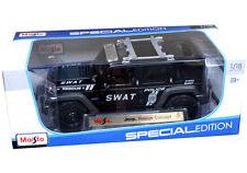 Maisto S.W.A.T. Jeep Rescue Concept 1:18 Diecast Model SWAT Police Matte Black
