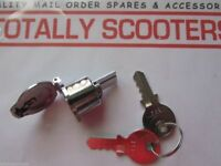 LAMBRETTA STEERING LOCK & 2 KEYS FOR S1 or S2 MODELS - TOP QUALITY WITH FLAP
