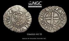 SPAIN, Castile & León. Sancho IV el Bravo (the Brave) 1284-1295, NGC AU53