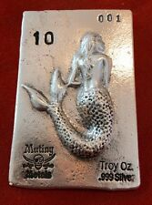 Limited Edition Siren Of The Sea 10 oz .999 Silver Numbered USA Bullion Bar