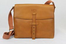 UGG AUSTRALIA BRANFORD SLIM MESSENGER CHESTNUT LEATHER MESSENGER BAG