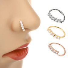 1Pc Nose Ring Ear Hoop Tragus Helix Cartilage Earring Crystal Piercing Sexy