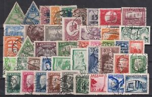 LATVIA 1921-1939 Selection of 44 Used stamps