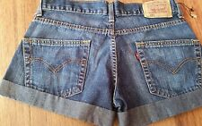 LADIES 460 LEVIS JEAN SHORT SHORTS Waist 70cms /27in