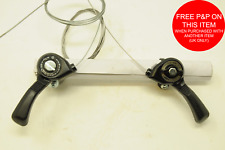 PAIR VINTAGE  MTB THUMB GEAR LEVER TOP SHIFTERS  FRICTION CONTINUOUSLY VARIABLE